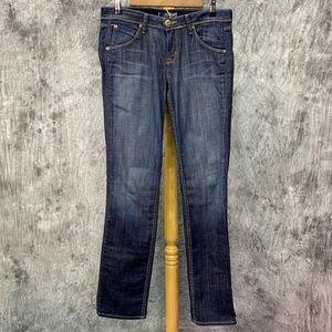 Hudson Flap Straight Jeans Sz 29 Dark Wash